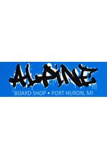 Alpine Sticker Blue/Black/White