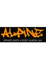 Alpine Sticker Black/Glitter Orange
