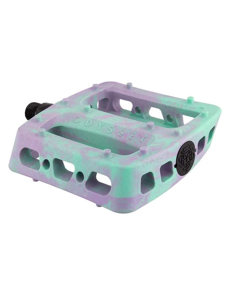 Odyssey Twisted PC Pro Pedals 9/16 Lavender / Toothpaste Swirl