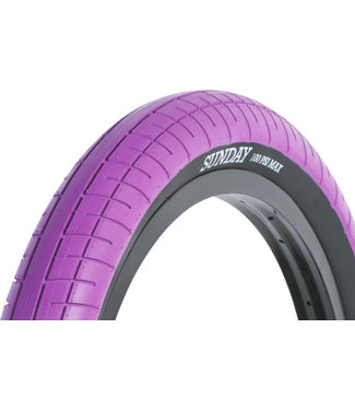 Sunday Street Sweeper Tire - 20 x 2.4, Clincher, Steel, Purple/Black
