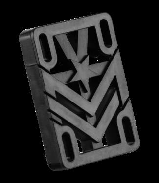 """Mini Logo 1/2"""" Risers single set Black"""
