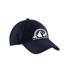 "Alpine Embroidered Dad Hat Black ""Alpine Mountain"""