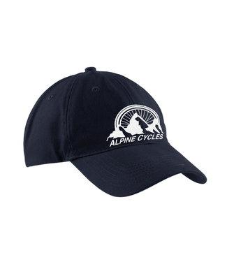 """Alpine Embroidered Dad Hat Black """"Alpine Mountain"""""""
