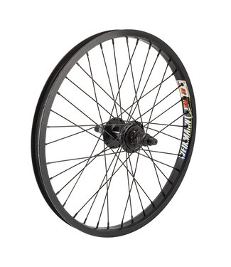 Rear Wheel 20x1.75 406x24 WEI DM30 Black 36 BK-OPS 9t DRIVER 14mm SLOTTED 3/8 BK 110mm 14gBK