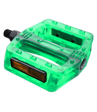 "Black Ops Gummy 1/2"" Pedals Translucent Green"