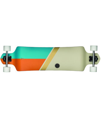 Globe Geminon Drop Down Longboard Off White/ Gold