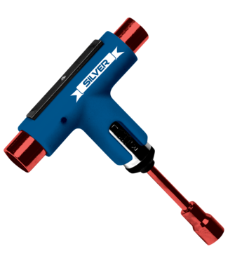 Silver Tool Blue/ Red