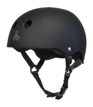 Triple 8 Helmet Black Rubber Black Medium