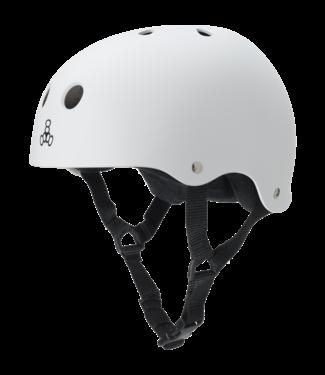 Triple 8 Brainsaver Rubber Helmet White Medium