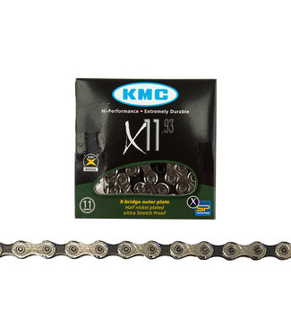Chain KMC X11.93 11s BK/SL 116L