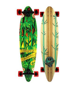 "Paradise ""Rasta Bamboo 3"" Pintail Longboard Complete"