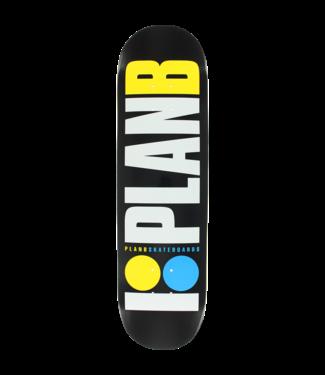 Plan B OG Neon Deck 8.0 Black/ White/Yellow/ Blue