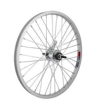 Rear Wheel 20x1.75 406x19 Alloy Silver 36 KT CB 110mm 14gUCP w/TRIM KIT
