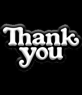 Thank You Logo Pin