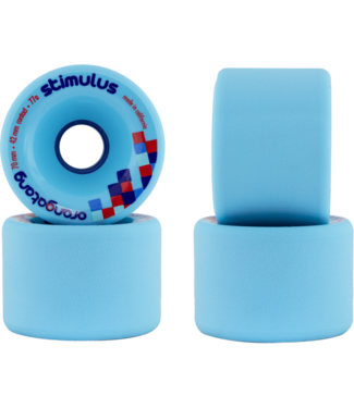 Loaded Orangatang 70mm, 77a Stimulus Blue