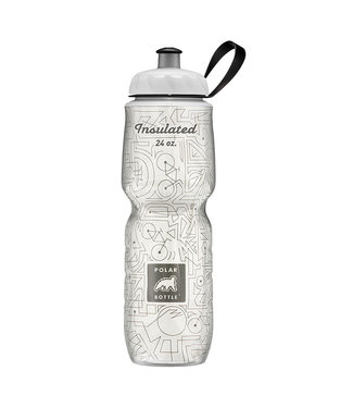 Polar Insulated Water Bottle 24oz Bike Lines