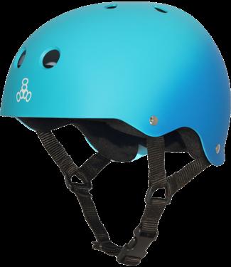 Triple 8 Helmet Rubber Blue/ Turquoise-S