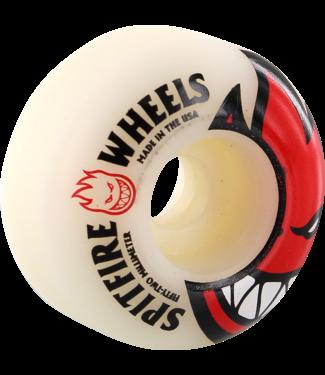Spitfire Big Head 52mm White w/ Red Wheels