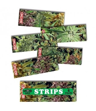 9in x 3.25in High Times Collage Grip Strips Bag of 5 Mob Skateboard Griptape