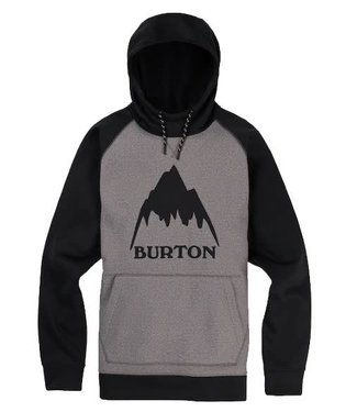 Burton Burton Crown Bonded Pullover Hoodie Heather/True Black