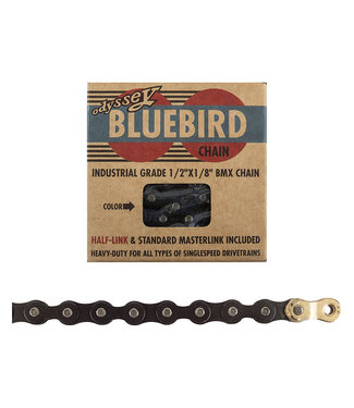Odyssey Bluebird Chain 1/2x1/8 1s Black w/ 1/2 Link