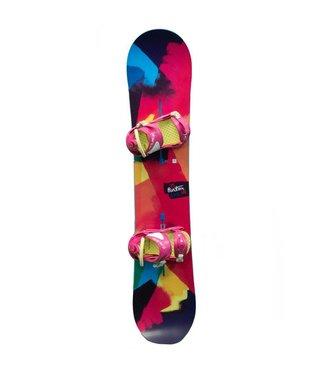 Burton Burton Genie Snowboard Package Pink/Yellow 138