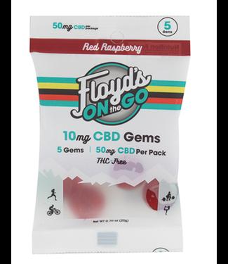 Floyd's CBD Recovery Gummies (THC Free) Raspberry 10MG 5CT