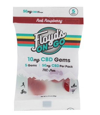 FLOYDS OF LEADVILLE Floyd's CBD Recovery Gummies (THC Free) Raspberry 10MG 5CT