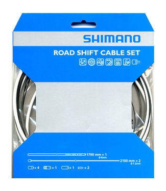 Shimano Gear Shifter Cable Wire Kit Road w/Housing White PTFE