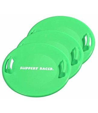 Slippery Racer 2-Pack Slippery Racer Downhill Pro Saucer Disc Snow Sled - Green
