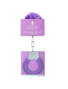 Ouch! Pleasure Furry Handcuffs in Purple