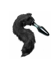 XRbrands Tailz Midnight Fox Glass Plug