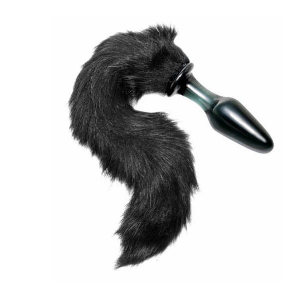 XRbrands Tailz Midnight Fox Glass Plug
