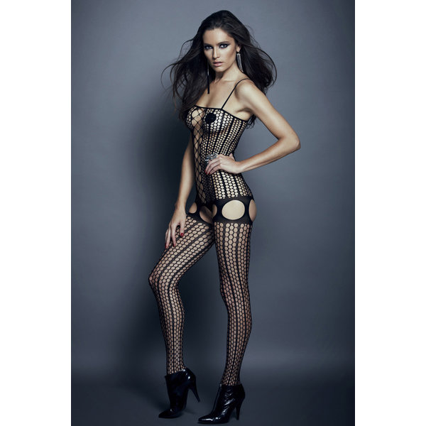 Golyta Hauty Crotchless Pinstriped Bodystocking