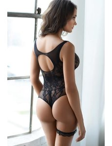 Sheer Lace Thong Cut Bodysuit
