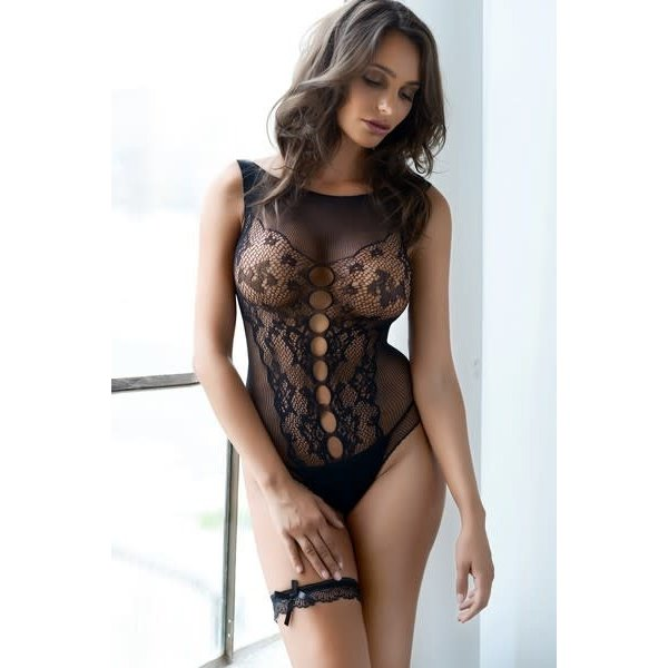 Sheer Lace Thong Boysuit 160