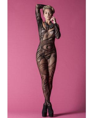 Golyta Hauty Long Sleeve Body Stocking Black