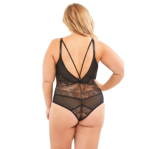 V-Plunge Lace Teddy