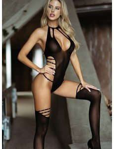 Killer Legs Total Control Studded Sheer Bodystocking