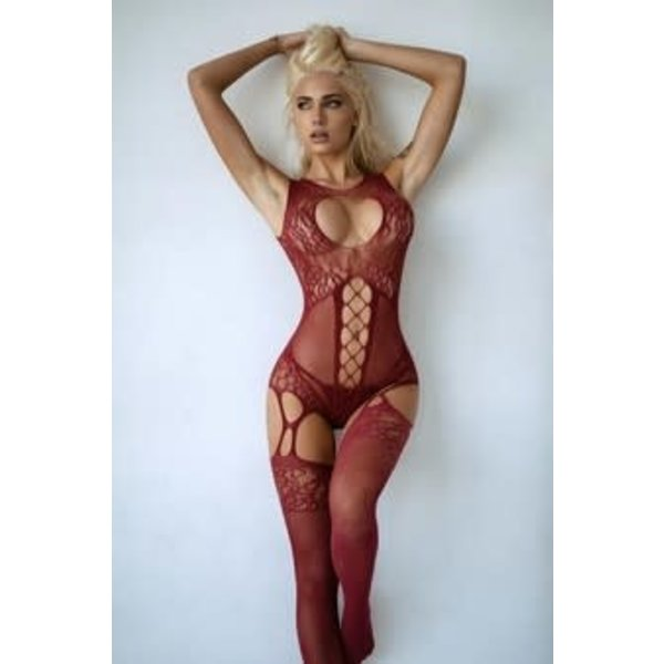 Killer Legs High Neck Keyhole Bodystocking