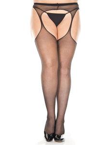 Plus Size Sheer Suspender Pantyhose