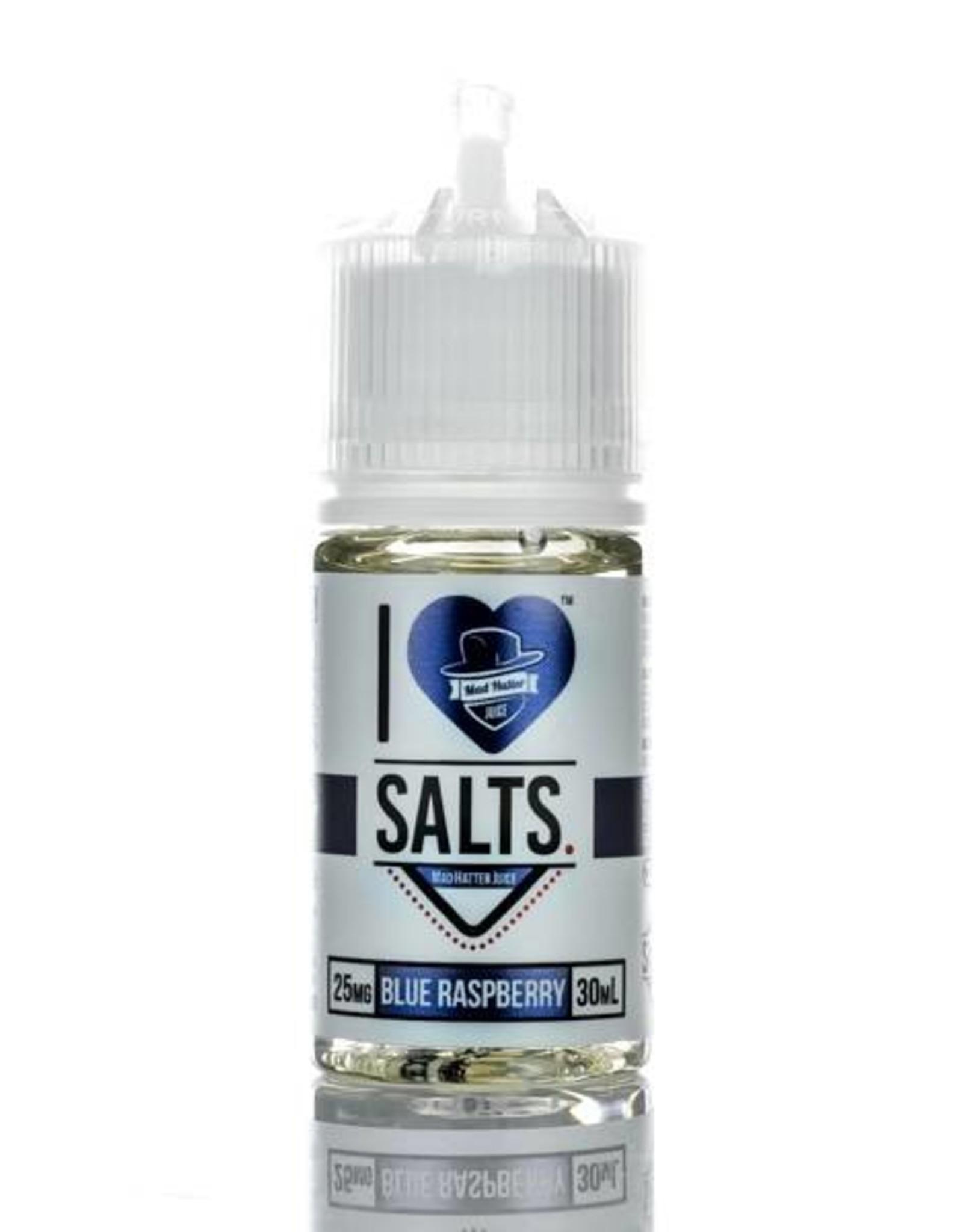 "Mad Hatter Mad Hatter Juice - I Love Salts ""Blue Raspberry"" (30mL)"