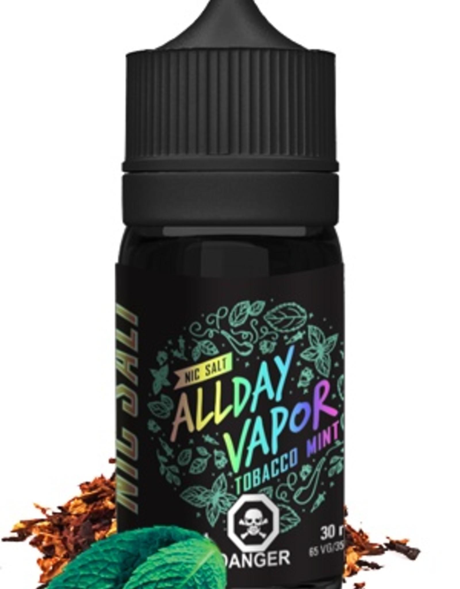 Nic Salt ALLDAY VAPOR Tobacco Mint (30mL)
