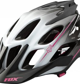 fox head FOX FLUX WOMEN'S HELMET [WHT/GRY/PNK] L/XL