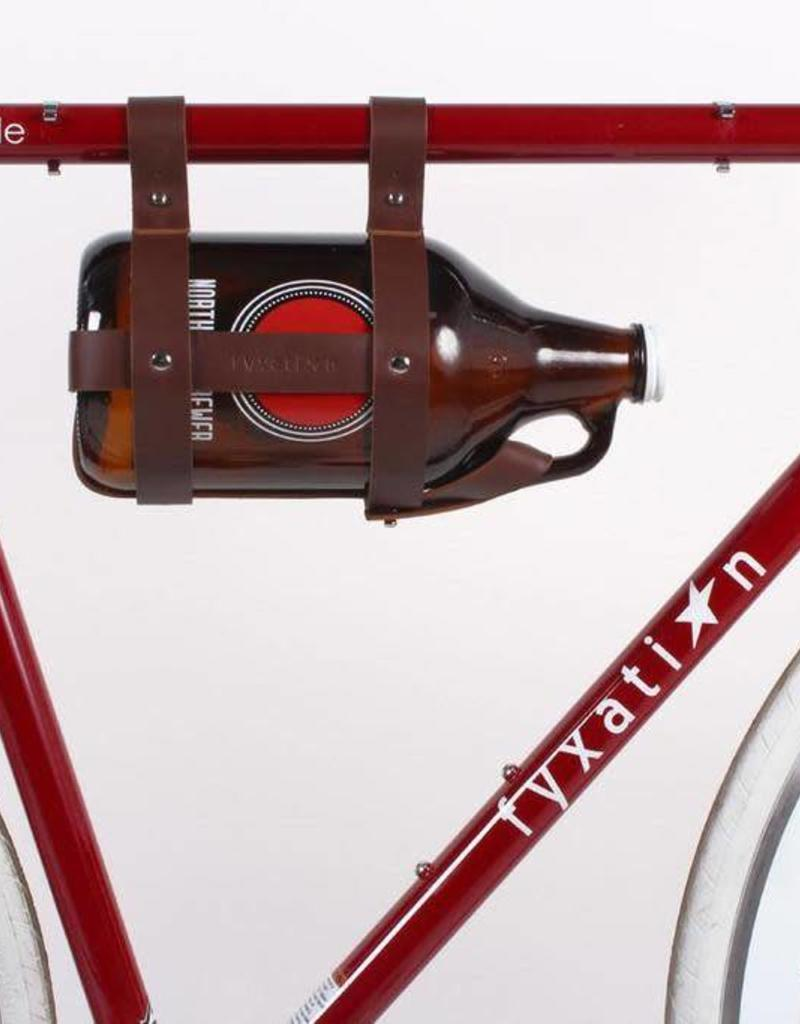 FYXATION Leather Growler Caddy - Brown