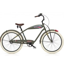 Electra Bicycle Company 18 ELECTRA Tiger Shark 3i, Men's, Matte Green