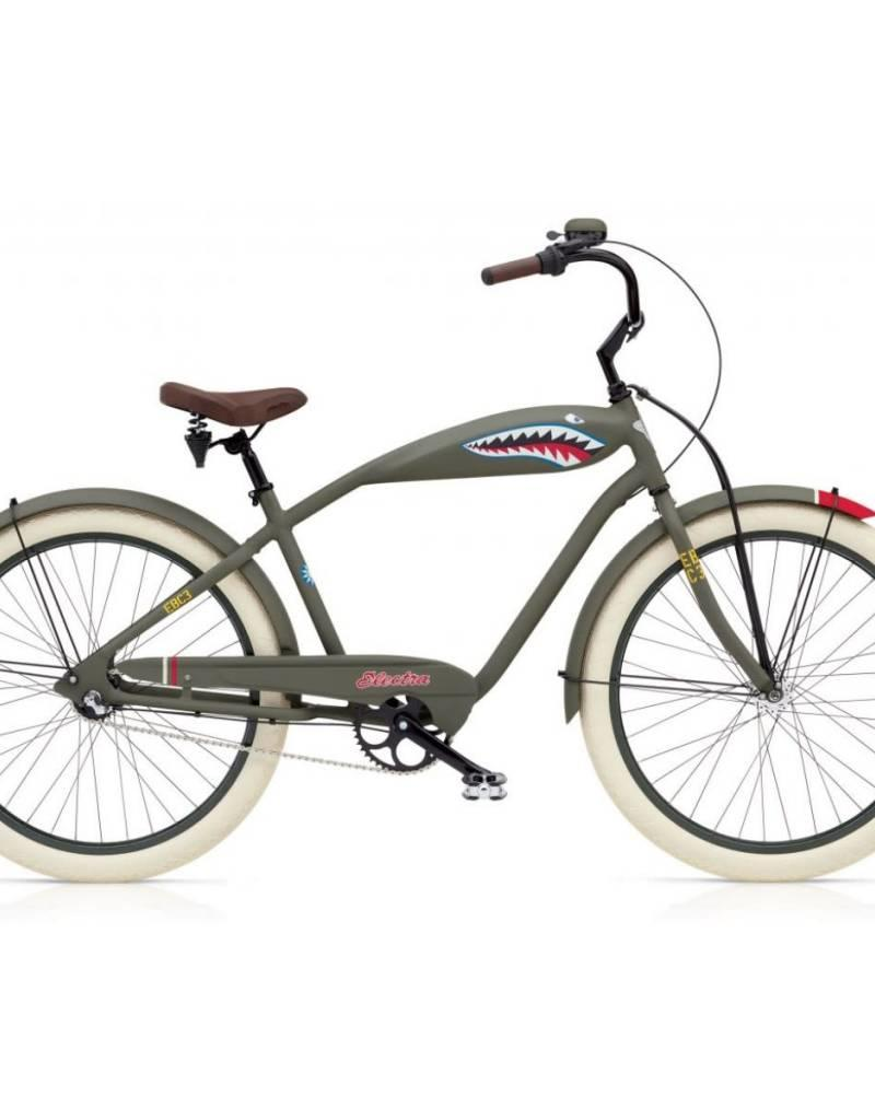 Electra Bicycle Company ELECTRA Tiger Shark 3i, Men's, Matte Green