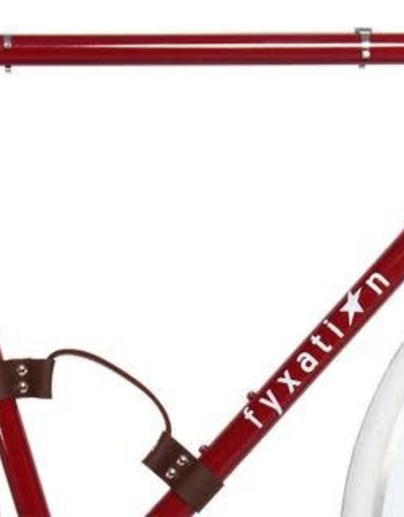 FYXATION LEATHER BICYCLE HANDLE BLACK