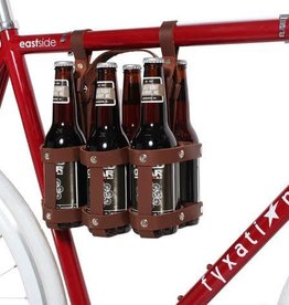 Fyxation Leather Six Pack Caddy - Black