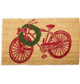 Christmas Bike Door Mat